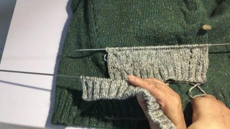 百搭款棒针花样开衫外套 依可爱原创纯手工编织 「踏歌」3 右前片
