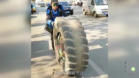 极创公元 为什么很多人滚着轮胎去?原来会有100万元奖励