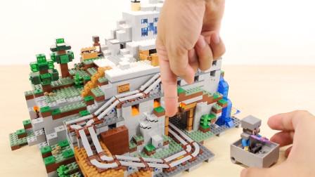 乐高大型玩具:《我的世界》山洞!细节完美