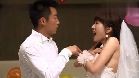 爆笑:闹洞房脱8件衣服,新郎和新娘一起加起来数,新娘被整害羞