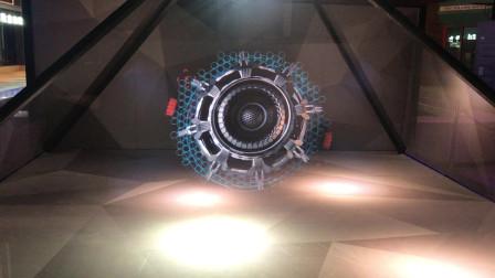 传说中的全息投影?纯肉眼360度无死角3D,机械风暴加美女跳舞