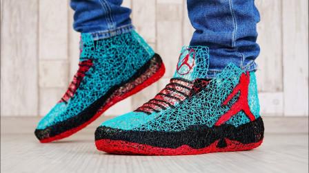 老外的AJ球鞋全世界只有一双,纯手工用3D 打印笔制作,成品太好看了!