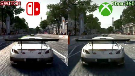 分别在Switch和Xbox360上面玩《超级房车赛》