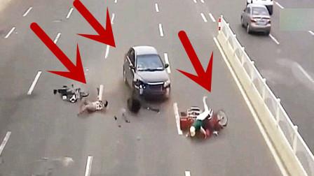 两名女子骑车如此任性行驶,轿车司机没有惯着她们!