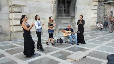 在街头原生态艺术,弗拉门戈音乐与舞蹈豪放野性