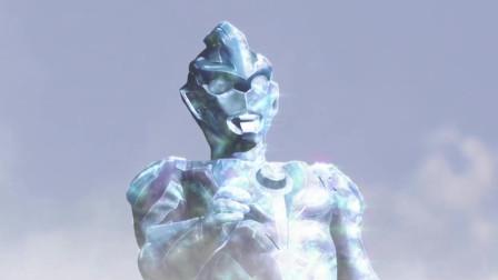 欧布融合银河和维克特利艾克斯奥特曼变身成三重形态,太炫酷了!