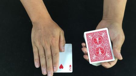 教你一招简单又神奇的魔术,手轻轻一摸,牌就变了!看完后我服了