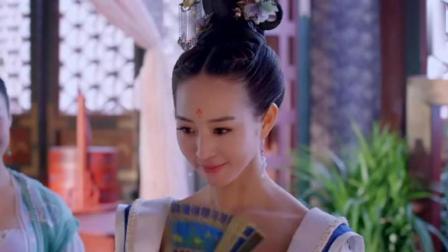 《武媚娘传奇》徐慧穿上蓝色的蔷薇襦裙, 出来那一刻, 媚娘直呼宛如洛神