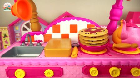 儿童厨房玩具,做蛋糕华夫饼玩具,厨房餐具玩具