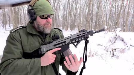 装配消音器的捷克CZ 805突击步枪,消音效果有点出乎意料!