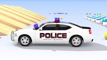 乐享知识乐园教你认识崭新的白色警车玩具