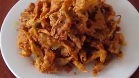 酥脆的干炸蘑菇,也可当作小零食