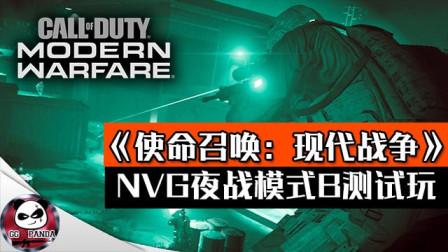 《使命召唤:现代战争》NVG夜战模式