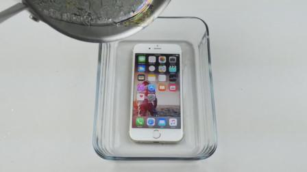外国牛人的奇思妙想,用高温熔浆烹饪手机,网