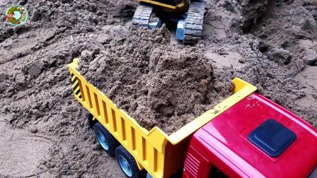 汽车玩具,重型装备卡车玩具,挖掘机装载车和自卸车玩具