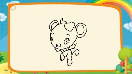 卡通老鼠简笔画画法儿童简笔画
