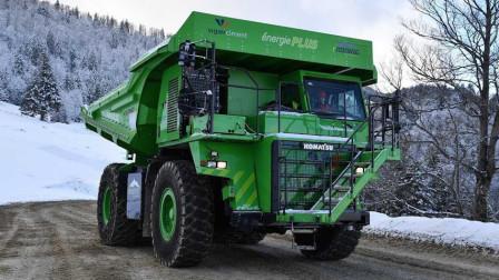 """号称""""永不充电""""的电动卡车,满载110吨,拉趟货电还是满的"""