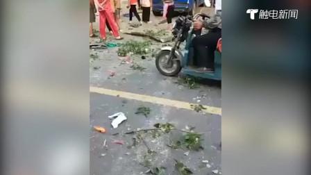 高清现场一片狼藉!安徽天长发生煤气罐爆炸,附近街道商铺无一幸免