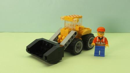 玩具开箱:城市工程拼装积木之铲车,快来看看72变的积木玩具吧