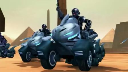 《超兽武装》火麟飞等人会黑武士包围, 战斗中泰雷救火麟飞