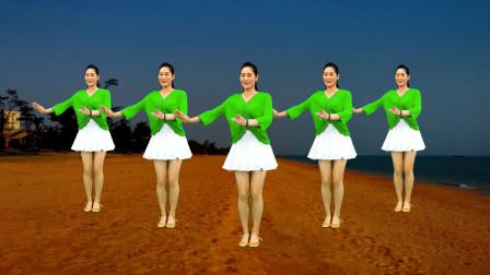 老歌新跳广场舞《惜别的海岸》抒情柔美32步,醉人好看又简单!