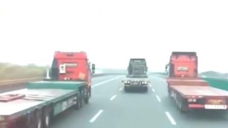 这就是大货车经常挨骂的原因!实在是有些司机素质真的是低