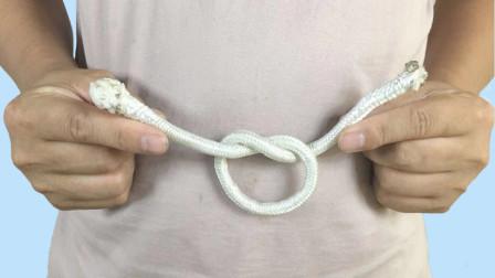 魔术教程:手轻轻一晃,绳子自动打结,学会骗朋友玩玩