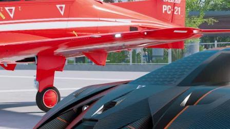 兰博基尼和飞机竞速,谁更快?