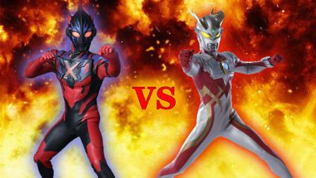 赛罗奥特曼强壮日冕型VS黑暗艾克斯!奥特曼格斗进化0修改皮肤!