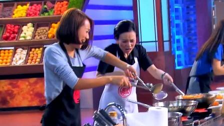 王琳制作菜肴最后一步时,朱丹不慎被油溅伤,下过厨的体验过