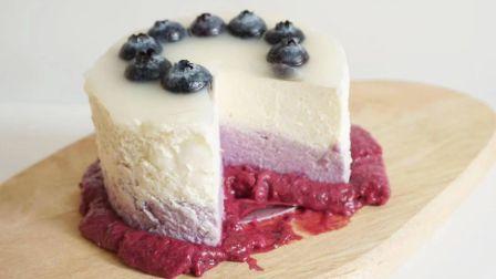 不用烤箱的蓝莓芝士蛋糕 / 低糖甜品 低GI甜品 减脂期友好