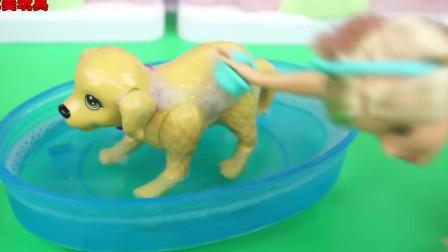 芭比娃娃洗澡狗的玩具故事也发现了有趣的蛋北美玩具。