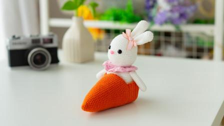 [289]巧织馆-萝卜赛车兔摇头音乐盒编织法视频
