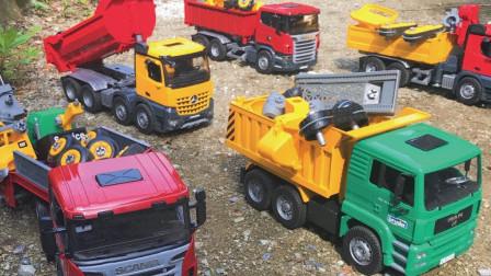 最新挖掘机视频表演1013大卡车运输挖土机+挖机工作+工程车