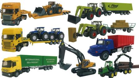最新挖掘机视频表演1014大卡车运输挖土机+挖机工作+工程车