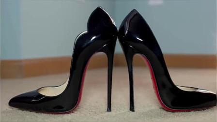 13厘米的尖头高跟鞋,经典的红底,一般人恐怕驾驭不了