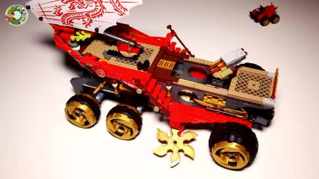 乐高积木玩具,组装超级陆地战车玩具