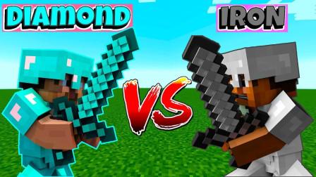 我的世界MC动画: 铁菜鸟 vs 钻石专业