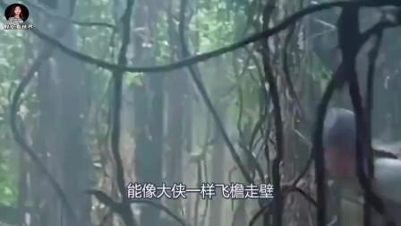 """60岁老人号称会""""轻功"""",无人相信,他爬上竹子后游客们不淡定了"""