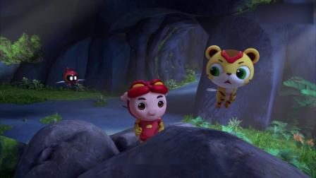 猪猪侠:猪猪侠阿五跟着幼龙到了一个山洞,里面一定住着恶龙!