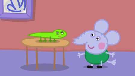 大象艾德蒙正在和蜥蜴璐璐打招呼
