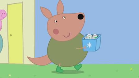 袋鼠先生抱来了冰镇的饮料