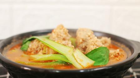 肉丸子汤的新做法,味美肉鲜Q弹爽滑煮久了肉也不会松散