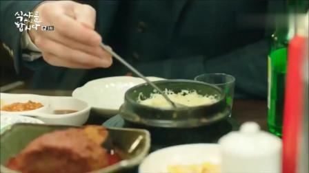 一起用餐吧:鲽鱼生鱼片沾辣根和玉米沙拉