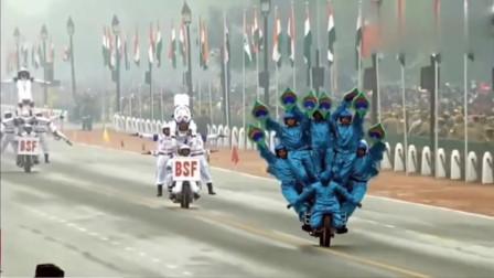 未命名印度强大阅兵:摩托车永远都是主角,技术难度让人惊叹