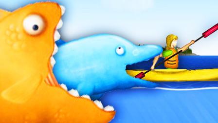 美味深海联机版 小熙霸的金鱼吃得比我海豚还大! 屌德斯小熙
