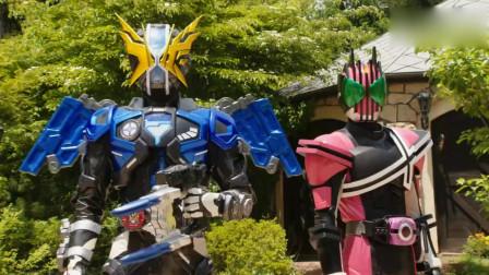 假面骑士帝骑一个人打四个异类骑士,秒了异类骑士亚极陀和双骑