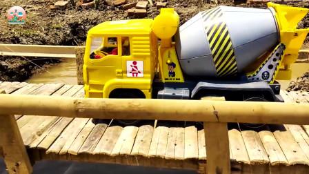 运输车工程车玩具,混凝土搅拌车铺路玩具,大卡车玩具