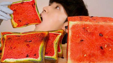 【JaeYeol】纳尼!居然系正方形西瓜吐司耶w~(ÒωÓױ)!