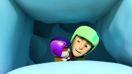 杰克被困在雪里,莱德挖不开雪球,小砾一下就把雪球挖出了一个洞